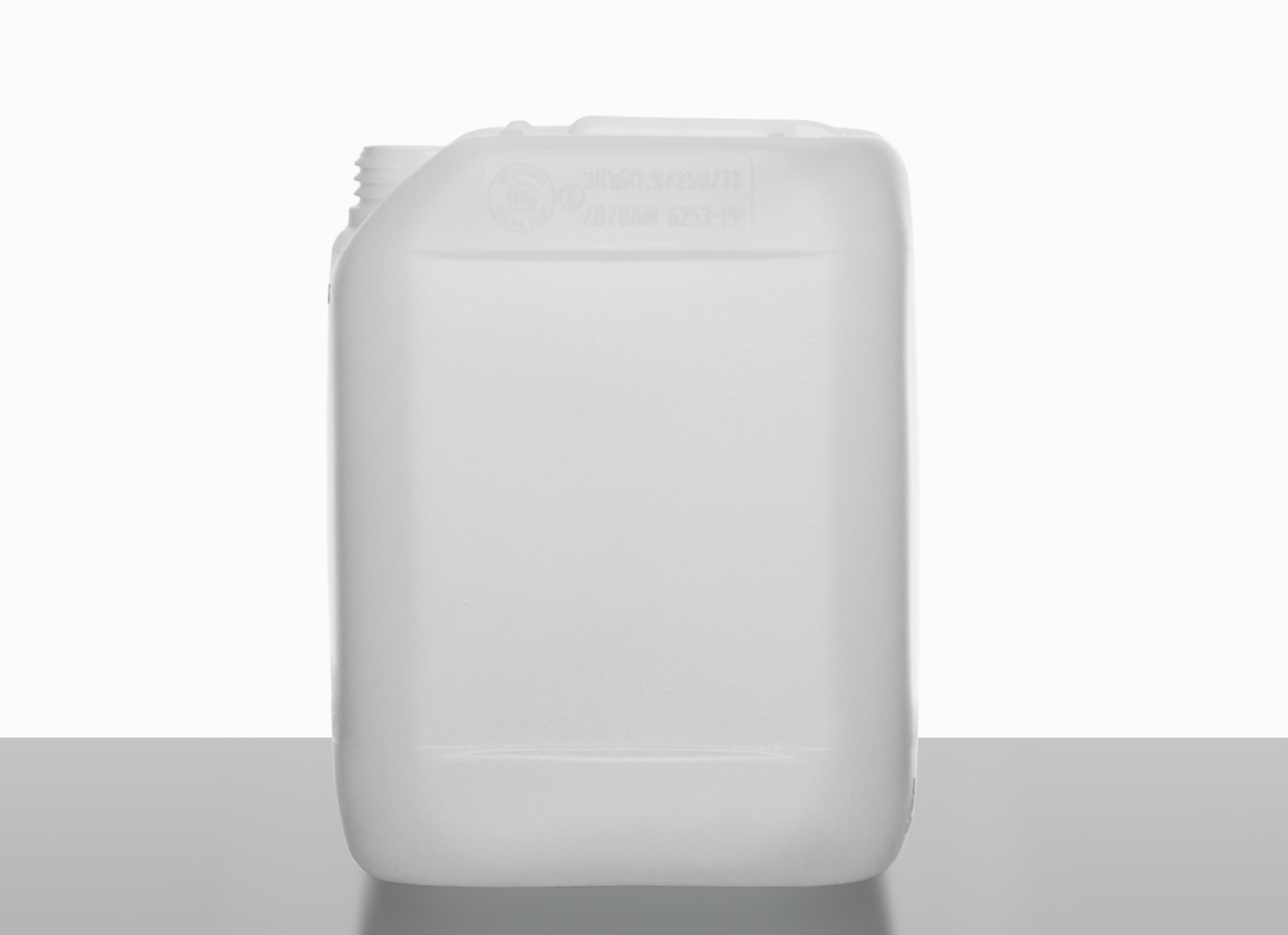 Plastic canister: 5,0 liter, colour: natural