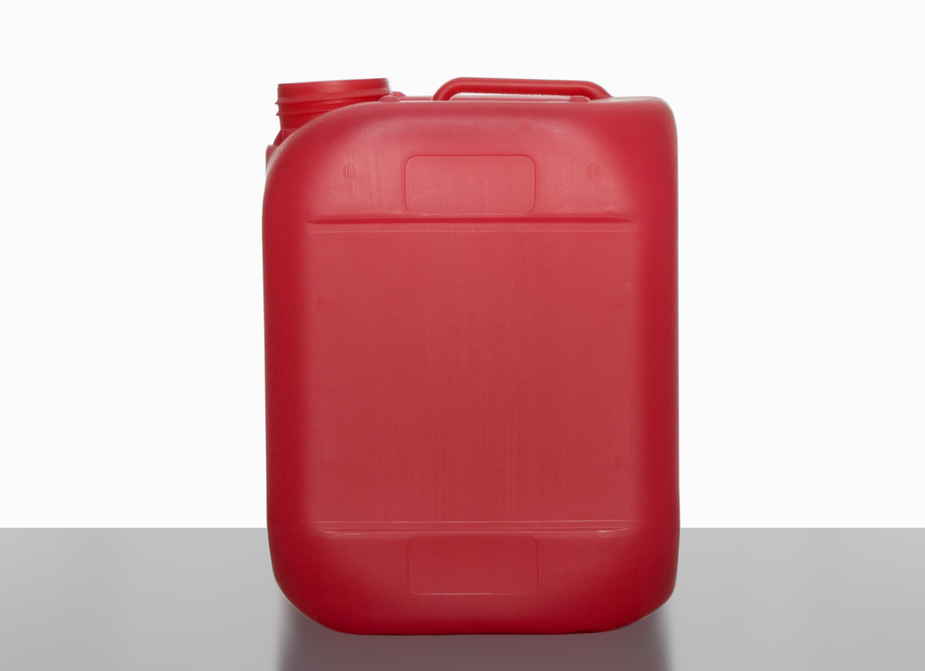 Plastic canister: 5,0 Liter, Farbe: red transparent