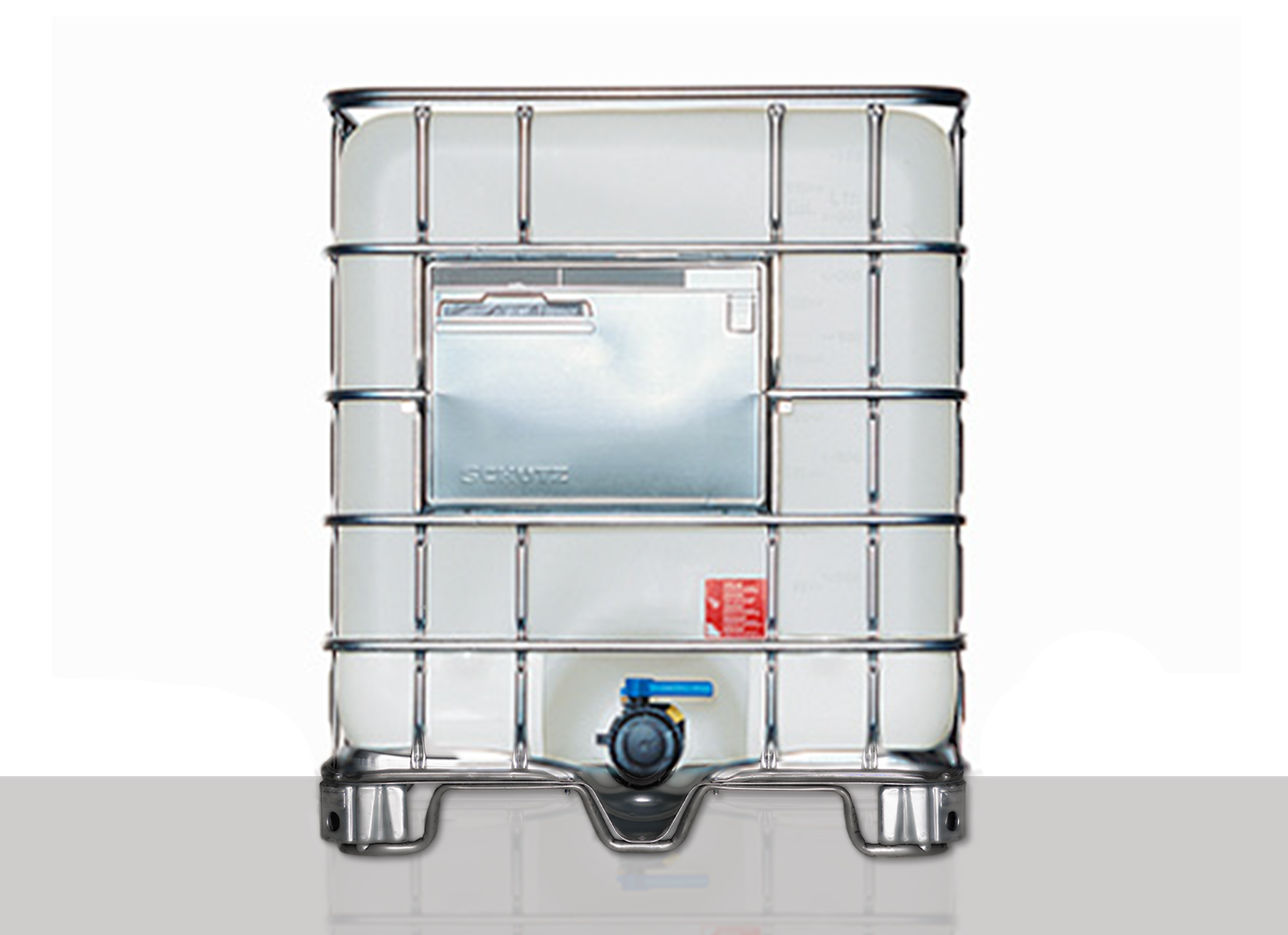 IBC Container Barriere: 1.000,0 Liter, Farbe: natur