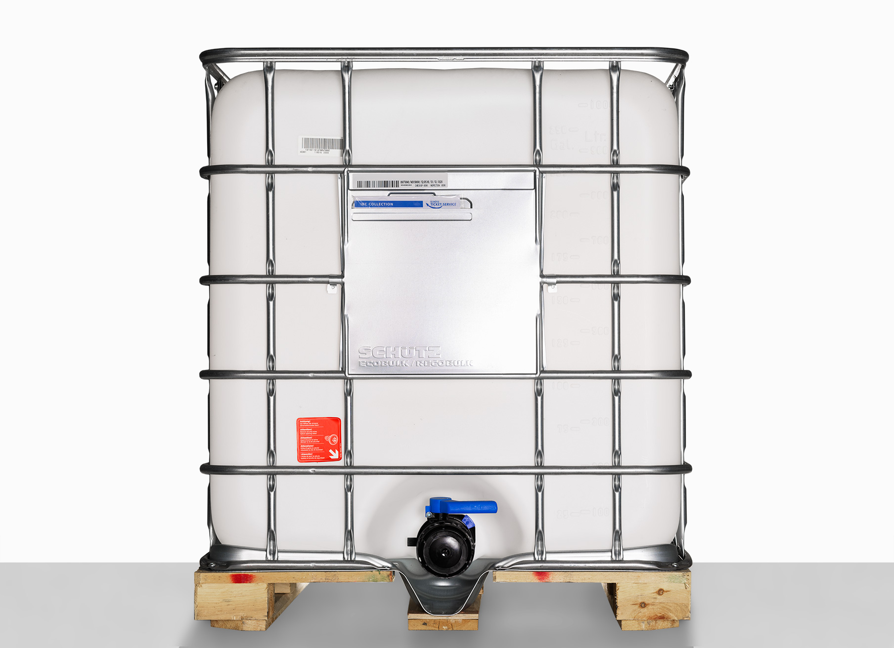 IBC Container MX-Holzpalette: 1.000,0 Liter, Farbe: natur